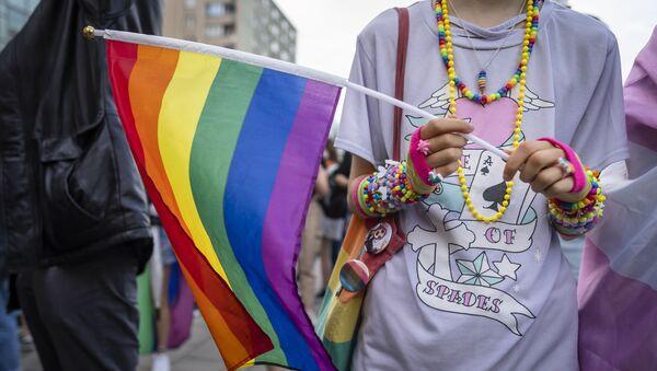 Protesty LGBT w Warszawie - Sputnik Polska