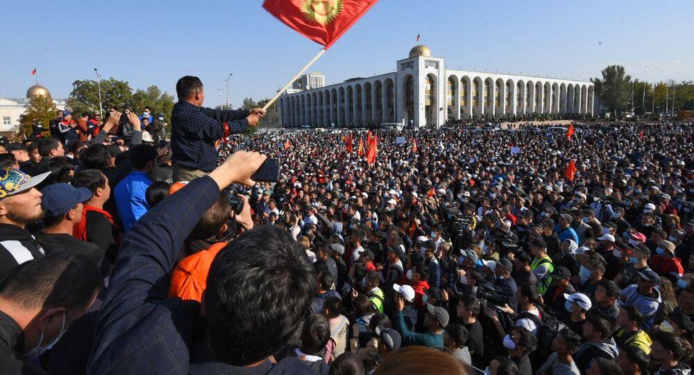Protesty w Kirgistanie