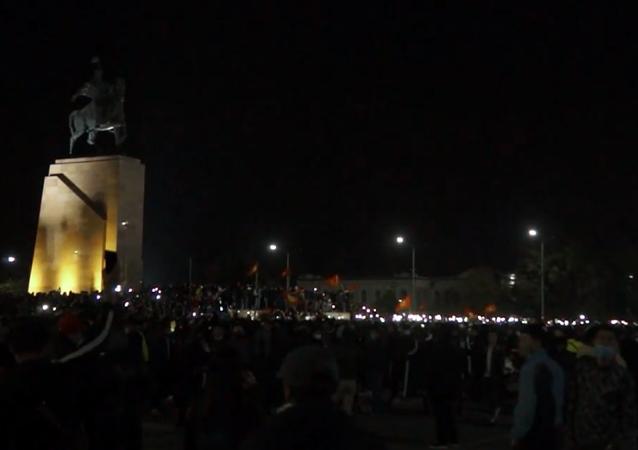 Protesty w Biszkeku