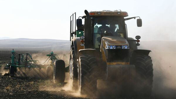 Rolnik pracuje w polu - Sputnik Polska