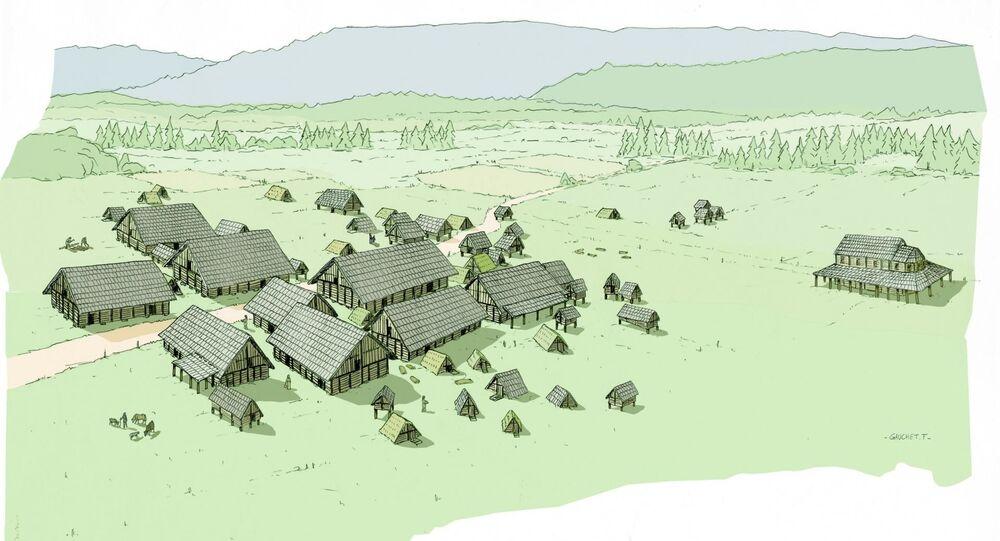 Osada Franków, znaleziona przez archeologów podczas wykopalisk w komunie Pontarlier we Francji