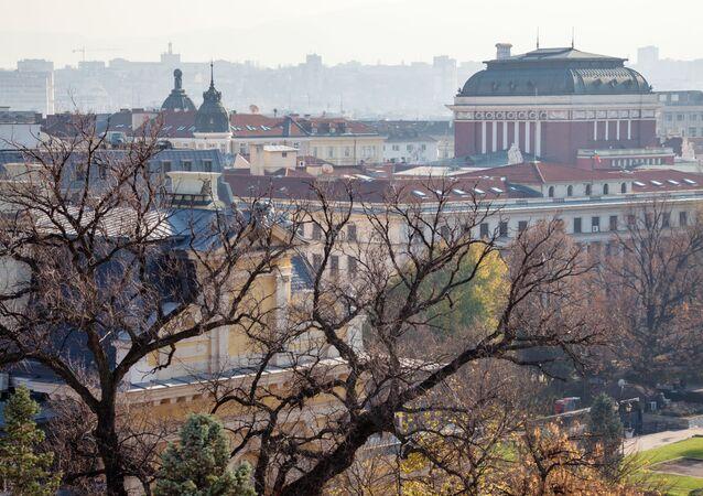 Panorama miasta Sofii w Bułgarii