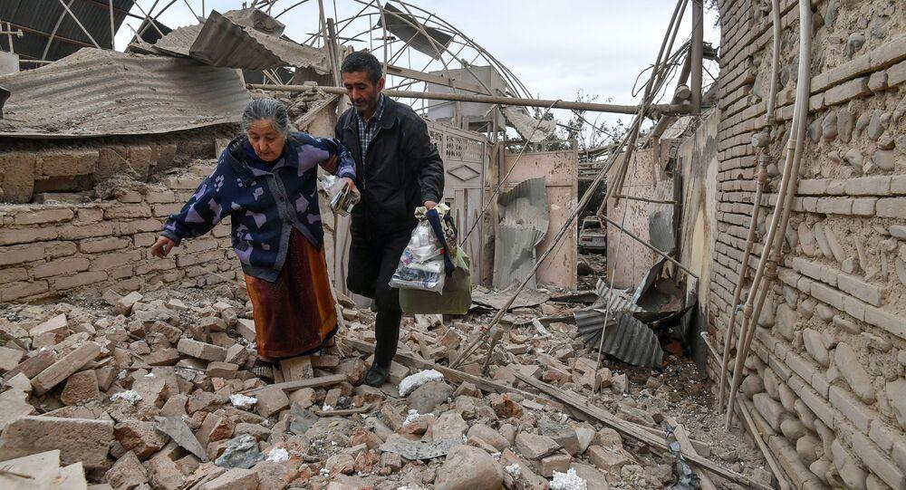 Mieszkańcy Azerbejdżanu podszas wojny z Armenią