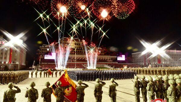 Parada z okazji 75. rocznicy powstania Partii Robotniczej Korei Północnej - Sputnik Polska