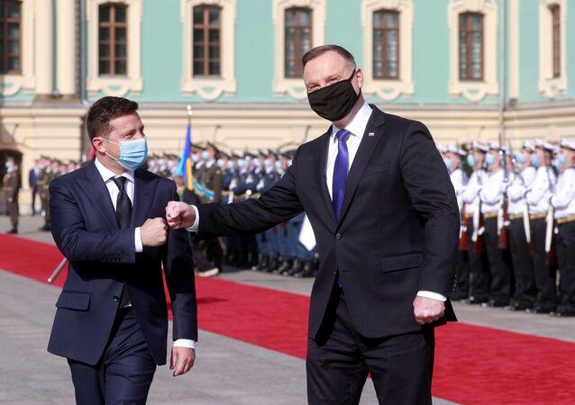 Spotkanie Andrzeja Dudy z Wołodomyrem Zełenskim