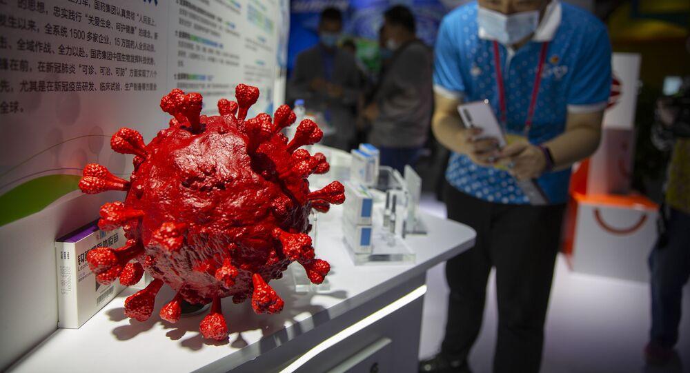 Model koronawirusa, zaprezentowany przez chińską firmę farmaceutyczną Sinopharm