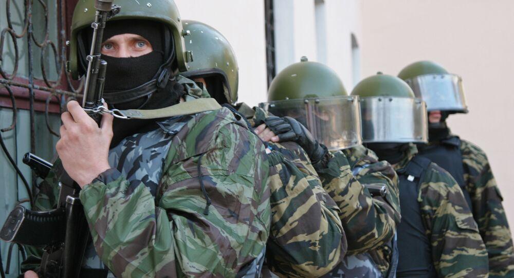 Oddział specjalny policji (OMON) w Chabarowsku