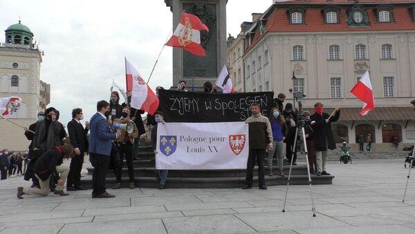 Protest pod kolumną Zygmunta w Warszawie - Sputnik Polska