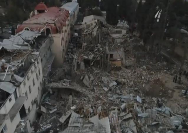 Konsekwencje ostrzału w mieście Gandża