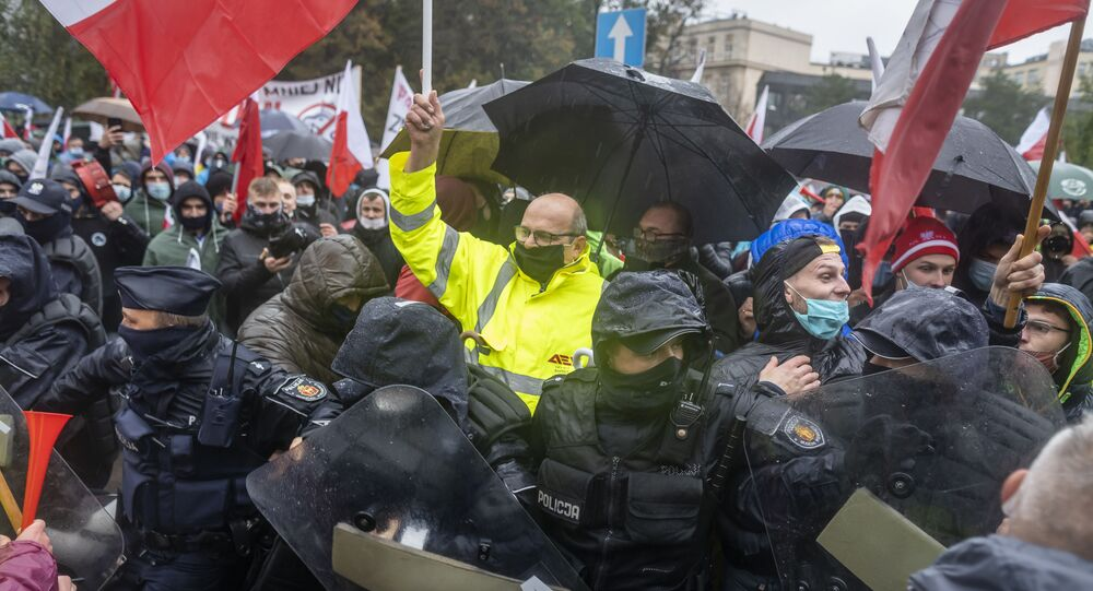 Protesty rolników w Warszawie