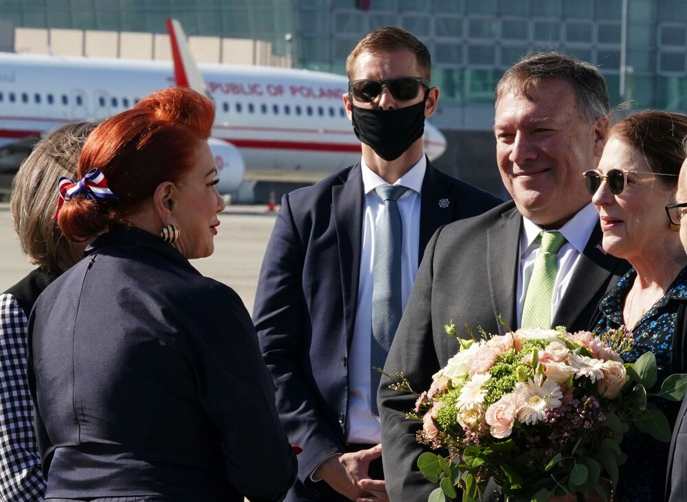 Sekretarz stanu Stanów Zjednoczonych Mike Pompeo odwiedza Warszawę, 2020 rok