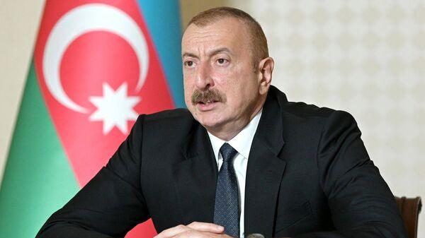 Prezydent Azerbejdżanu Ilham Alijew.  - Sputnik Polska