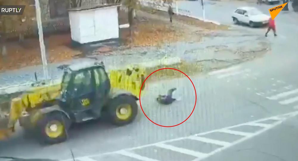 Wypadek w mieście Nowoarchangielsk w obwodzie kirowohradzkim na Ukrainie