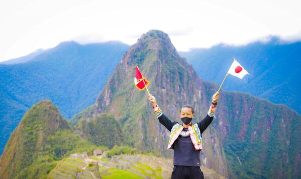 Japoński turysta Jesse Katayama w Machu Picchu - Sputnik Polska