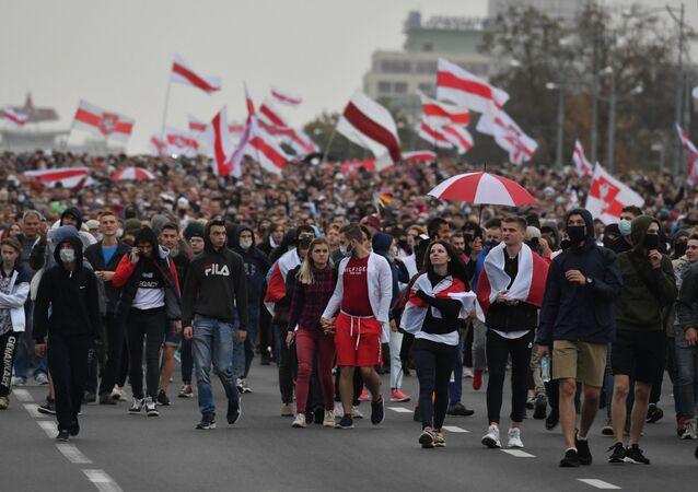 Protesty w Mińsku.