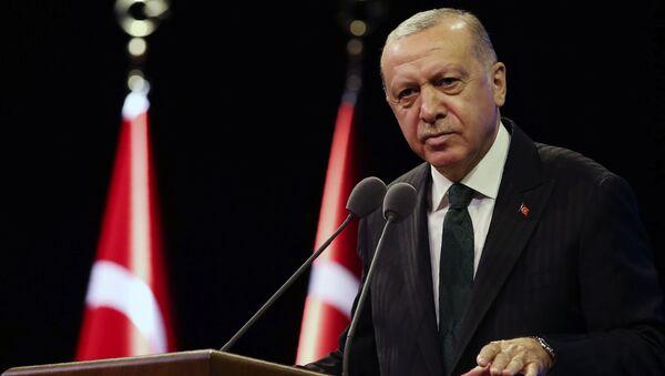Prezydent Turcji Tayyip Erdogan. - Sputnik Polska