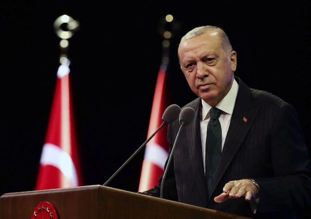 Prezydent Turcji Tayyip Erdogan.