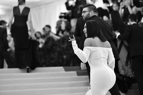Gwiazda telewizyjna Kim Kardashian na Met Gala-2017 w Metropolitan Museum w Nowym Jorku, USA - Sputnik Polska
