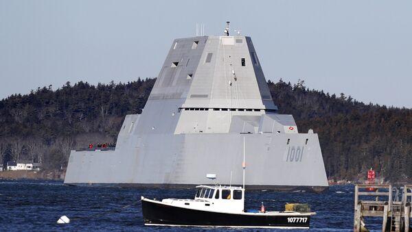 Niszczyciel stealth Marynarki Wojennej USA USS Zumwalt - Sputnik Polska