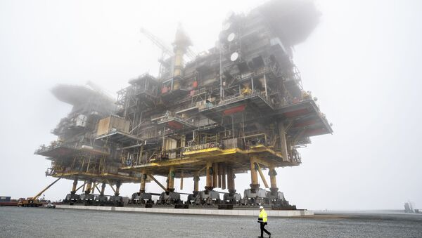 Platformy przetwórstwa ropy naftowej i gazu ziemnego Tyra East i Tyra West w Danii - Sputnik Polska