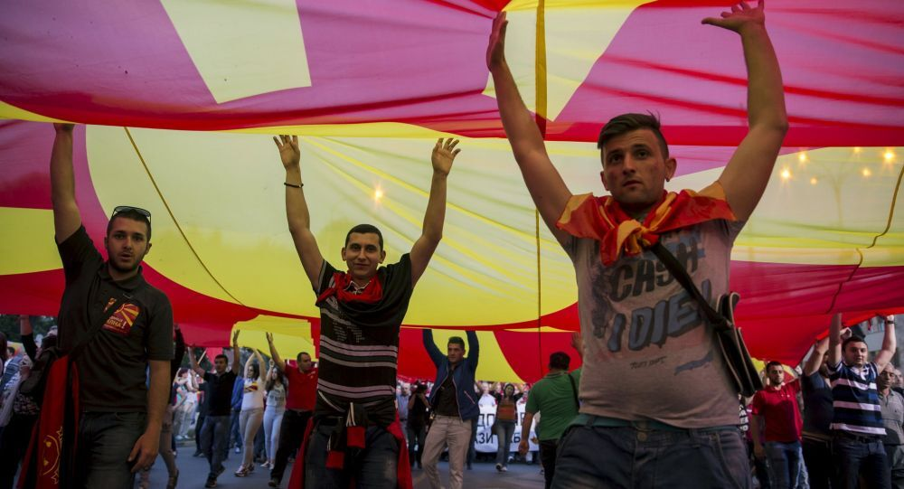 Protesty w Macedonii