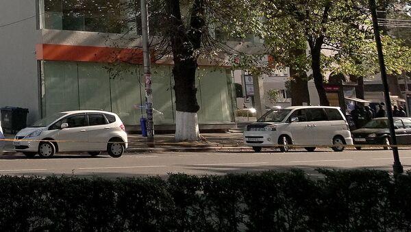 Oddział Banku Gruzji w centrum Zugdidi, gdzie uzbrojony mężczyzna wziął zakładników - Sputnik Polska