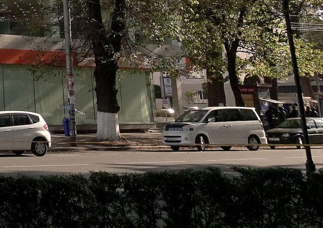 Oddział Banku Gruzji w centrum Zugdidi, gdzie uzbrojony mężczyzna wziął zakładników
