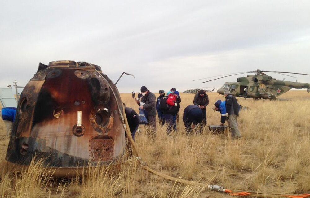 Statek kosmiczny Sojuz MS-16 wylądował w Kazachstanie