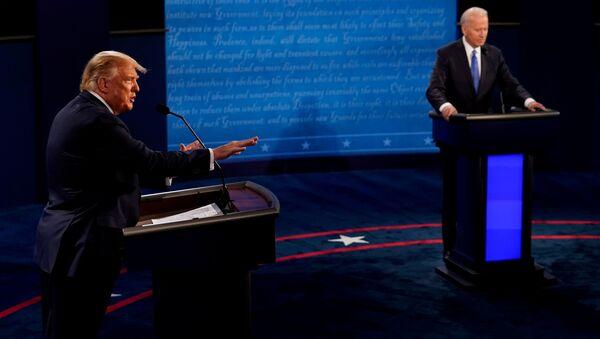 Ostatnia debata między prezydentem USA Donaldem Trumpem i byłym wiceprezydentem Joe Bidenem w Curb Event Center - Sputnik Polska
