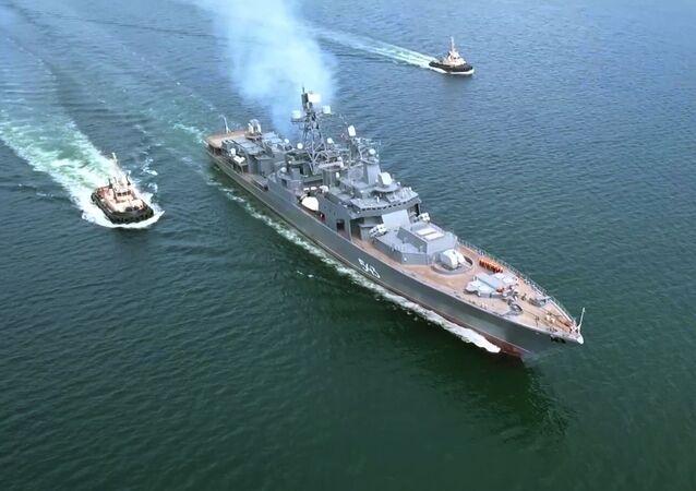 """Okręt Floty Pacyfiku """"Marszałek Szaposznikow"""""""