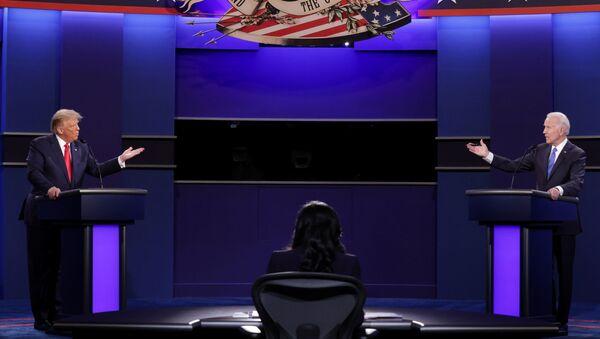 Финальные дебаты между президентом США Дональдом Трампом и бывшим вице-президентом Джо Байденом в Curb Event Cente - Sputnik Polska