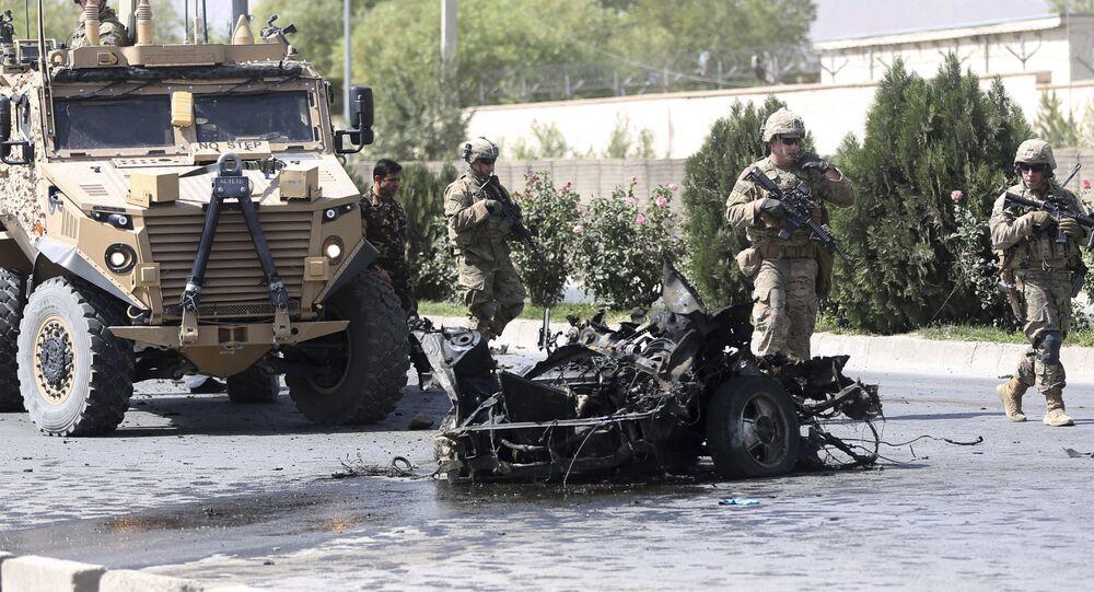 Amerykańscy żołnierze w Afganistanie, 24 września, 2017 r.
