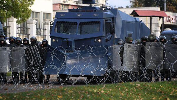Protesty w Mińsku - Sputnik Polska