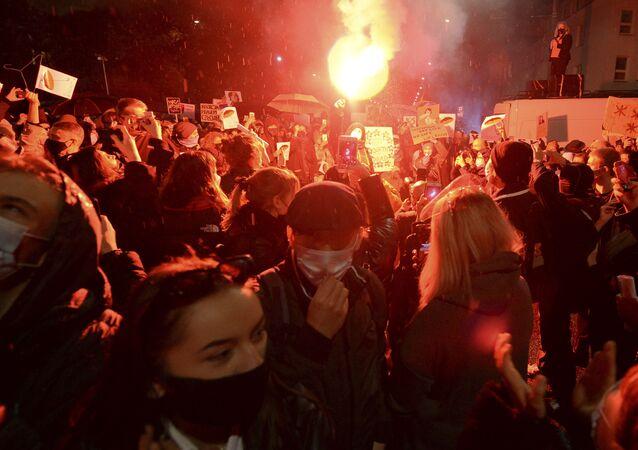 Protesty przeciwko zaostrzeniu przepisów dotyczących aborcji w Polsce, Warszawa