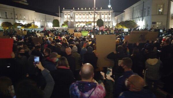 Protest pod Pałacem Prezydenckim - Sputnik Polska