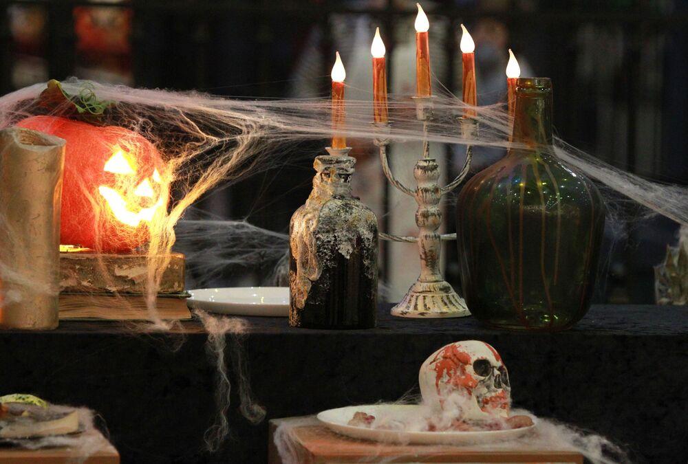"""Dekoracje na Halloween w moskiewskim parku rozrywki """"Wyspa Marzeń"""""""