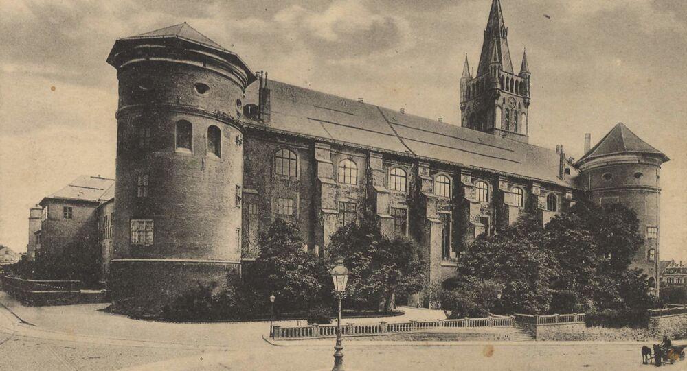Zamek Królewski w 1917 roku