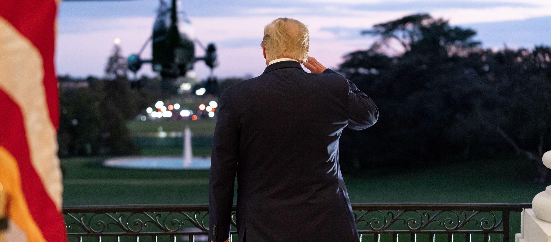 Były prezydent USA Donald Trump - Sputnik Polska, 1920, 13.02.2021