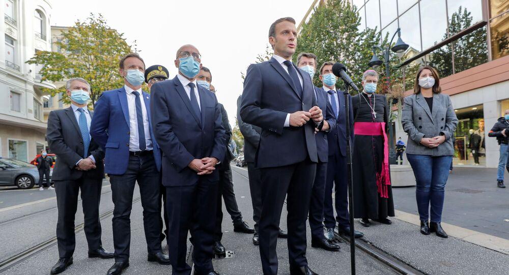 Prezydent Francji Emmanuel Macron