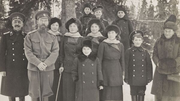 Rodzina carska w Carskim Siole, 1915 r. - Sputnik Polska