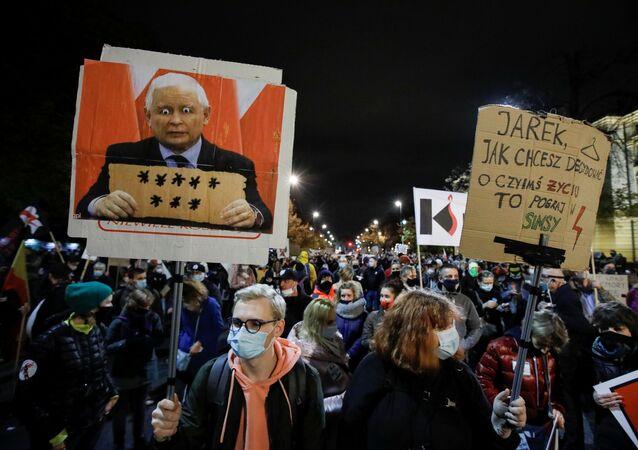 Akcja protestacyjna w Warszawie