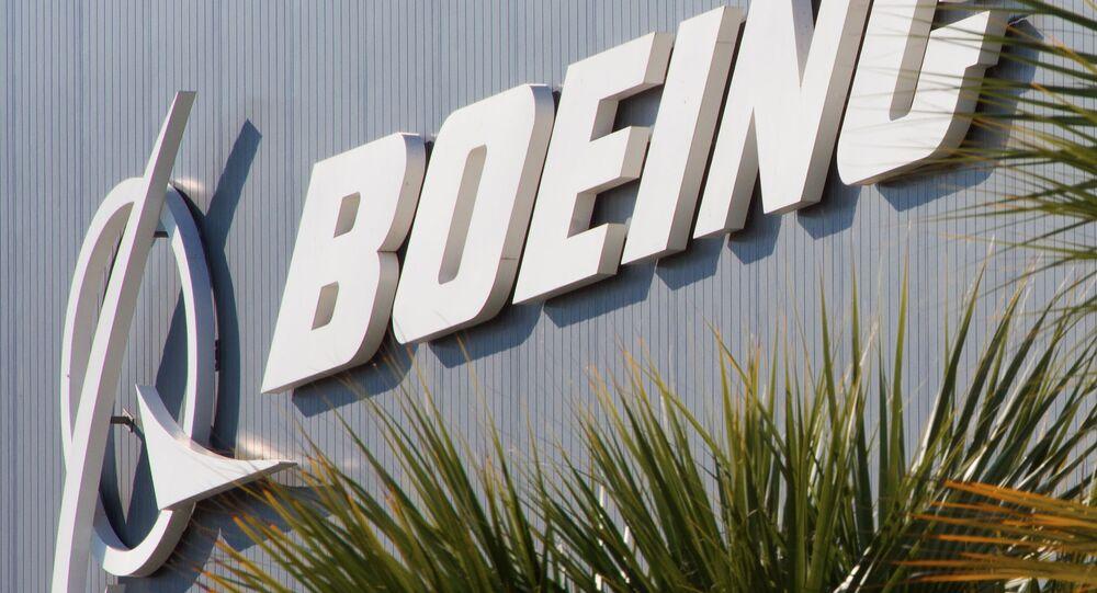 Logo koncernu Boeing.
