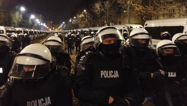 Policja na warszawskim Żoliborzu, 30.10.2020  - Sputnik Polska