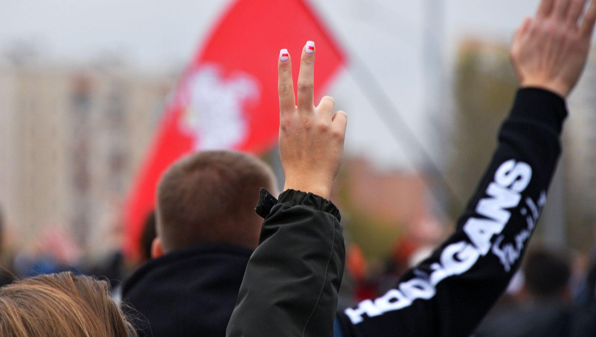 Protest opozycji w Mińsku. - Sputnik Polska, 1920, 09.03.2021