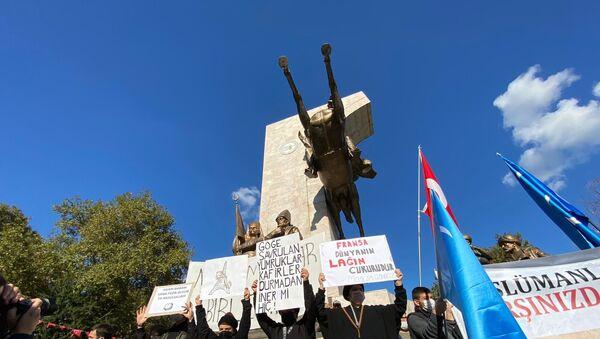 Stambuł: protest przeciwko karykaturom proroka Mahometa - Sputnik Polska