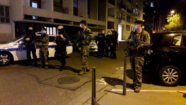 Policja w Lyonie - Sputnik Polska