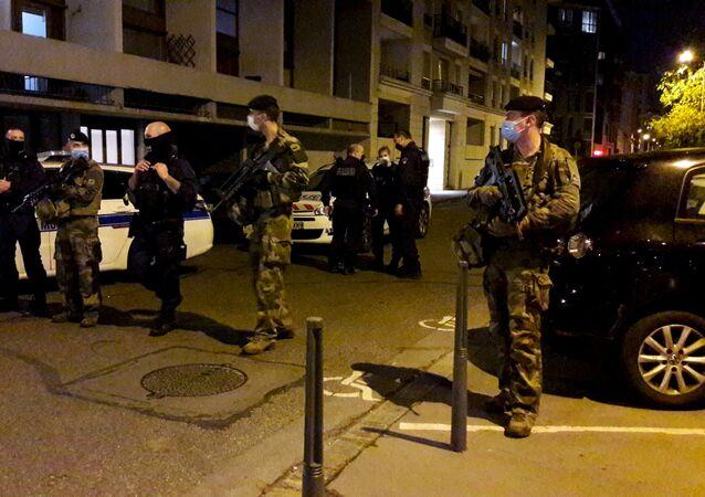 Policja w Lyonie