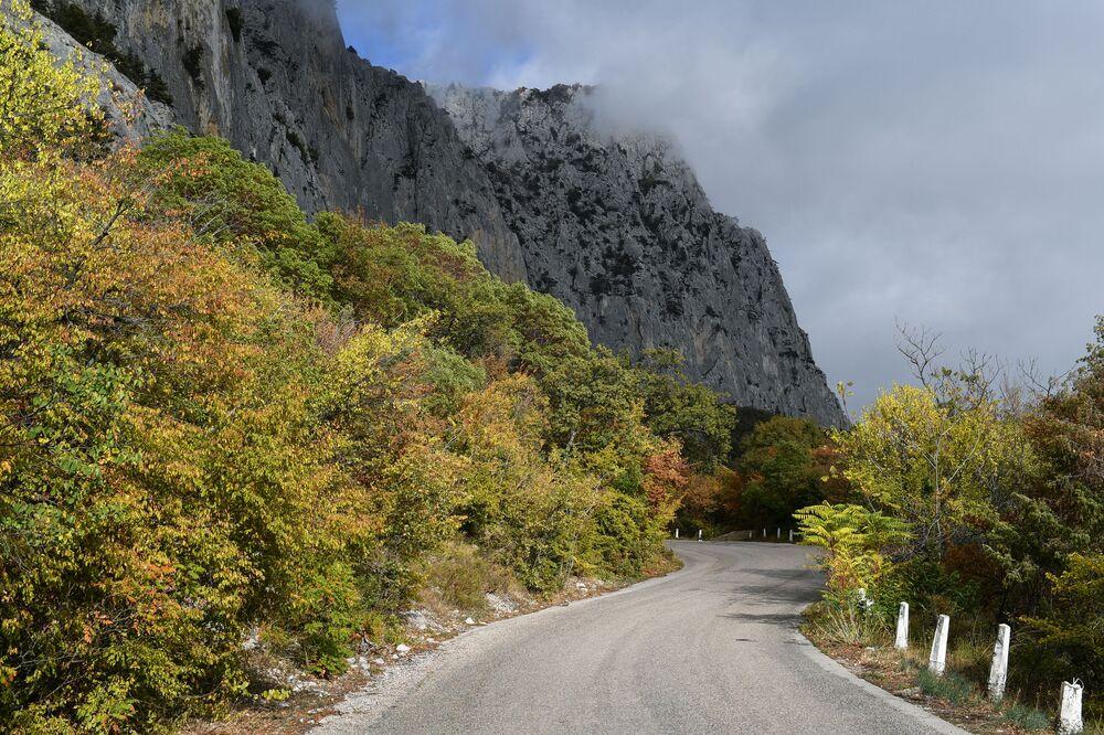 Droga w pobliżu miejscowości Opolznewoje