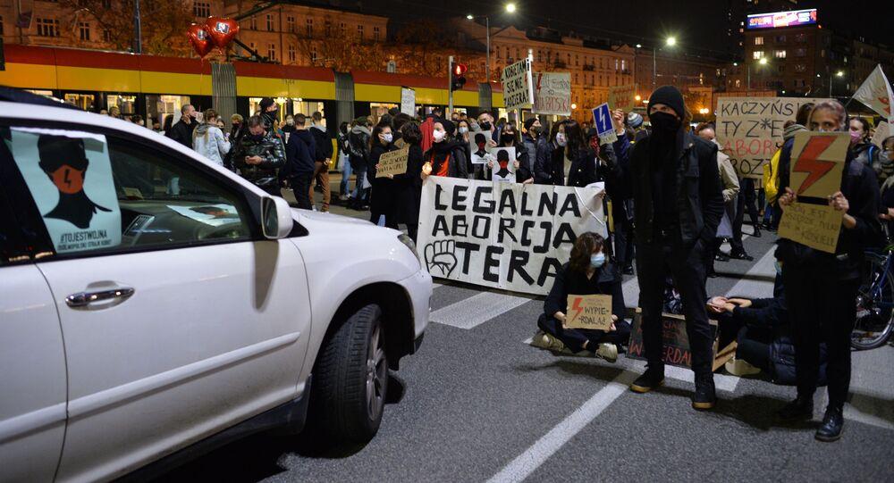Protesty w Polsce po wyroku TK ws. aborcji