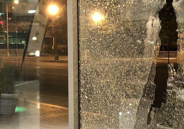 Ostrzelany hotel w Waszyngtonie